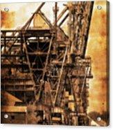 Steelmill Boatdock Cranes Detroit Acrylic Print