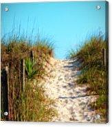 Steep Beach Path Acrylic Print