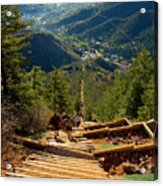 Steep Manitou Incline And Barr Trail Acrylic Print