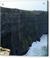 Steep Sheer Sea Cliff's Known As The Cliff's Of Moher Acrylic Print
