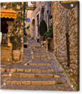 Steep Street In St Paul De Vence Acrylic Print