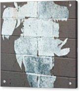 Steer Skull Abstract Acrylic Print