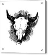 Steer Skull Tee Acrylic Print