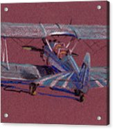 Steerman Biplane Acrylic Print