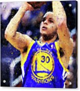 Steph Curry, Golden State Warriors - 19 Acrylic Print