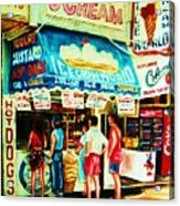 Stephanies Icecream Stand Acrylic Print