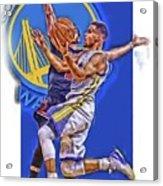Stephen Curry Golden State Warriors Oil Art Acrylic Print