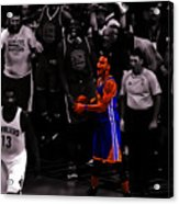 Stephen Curry Sweet Victory Acrylic Print