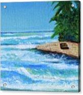 Steps Beach, Rincon Acrylic Print