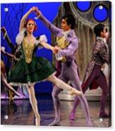 Stepsister Ballerinas En Pointe And Guests Ballroom Dancing In B Acrylic Print