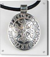 Sterling Silver Viking Celtic Cross Acrylic Print