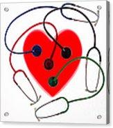 Stethoscopes And Plastic Heart Acrylic Print