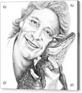 Steve Irwin Crocodile Hunter Acrylic Print