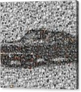 Steve Mcqueen Bullit Mosaic Acrylic Print