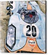 Steve Mcqueens Porsche 917k Le Mans Acrylic Print by Yuriy  Shevchuk