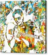 Steve Vai Paint Splatter Acrylic Print