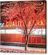 Steves Market Snowstorm Salem Ma Acrylic Print
