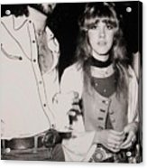 Stevie Nicks And Lindsey Buckingham Acrylic Print