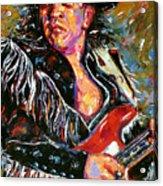 Stevie Ray Red Guitar Acrylic Print