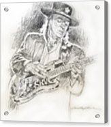 Stevie Ray Vaughan - Texas Twister Acrylic Print by David Lloyd Glover