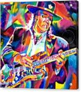 Stevie Ray Vaughan Acrylic Print by David Lloyd Glover