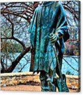 Stevie Ray Vaughan Vibrant Colors Acrylic Print