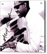 Stevie Wonder Autographed Acrylic Print