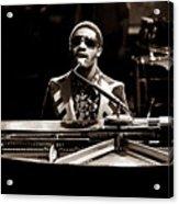 Stevie Wonder Softer Gentle Mood - Sepia Acrylic Print