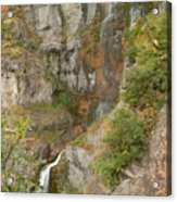 Stewart Falls In Autumn Acrylic Print
