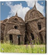 Lean On Me - Stick House Series #2 Acrylic Print