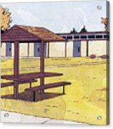 Sticker Landscape 1 Schoolyard Acrylic Print