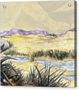 Sticker Landscape 3 Desert Acrylic Print