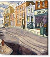 Sticker Landscape 4 Mainstreet Acrylic Print