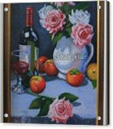 Still Life 1,rose N Wine Acrylic Print