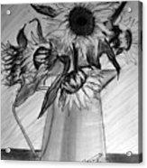 Still Life - 6 Sunflowers In A Jug Acrylic Print
