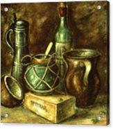 Still Life 72 - Oil On Wood Acrylic Print