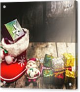 Still Life Christmas Scene Acrylic Print