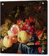 Still Life Acrylic Print by Cornelis de Heem