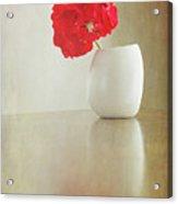 Still Life Geranium Acrylic Print