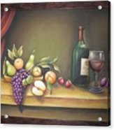 Still Life In 3-d Relief Work Acrylic Print by Prity Jain