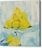 Still Life - Lemons Acrylic Print