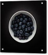 Still Life Of A Bowl Of Blueberries. Acrylic Print