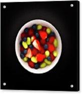 Still Life Of A Bowl Of Fresh Fruit Salad. Acrylic Print