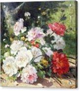 Still Life Of Flowers Acrylic Print