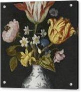 Still Life Of Flowers In A Wan-li Vase Acrylic Print
