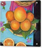 Still Life Oranges And Grapefruit Acrylic Print