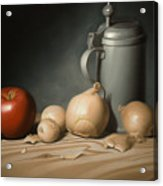 Still Life Painting With Onions Acrylic Print