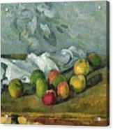 Still Life Acrylic Print by Paul Cezanne