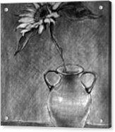 Still Life - Vase With One Sunflower Acrylic Print