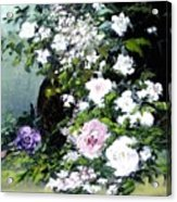 Still Life W/flowers Acrylic Print
